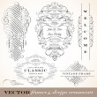 Vector Vintage Ornament Frame Set. — Stock Vector