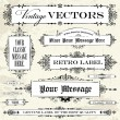 Vector Vintage Label Set — Stock Vector