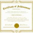 Royalty-Free Stock Vector Image: Vector Vintage Certificate of Achievement
