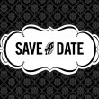 Stock Vector: Vector Save Date Ornate Frame