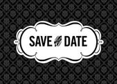 Vector Save the Date Ornate Frame — Stok Vektör