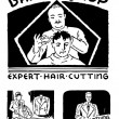 Постер, плакат: Vector Retro Barbershop Graphics Print