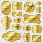 Vector Gold Labels Set — Stock Vector