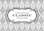 Vector Ornate Frame and Pattern — Vector de stock