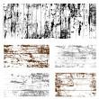 Vector Grunge Overlay Set - Stock Vector