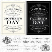 Vector Mother and Fathers Day Frames — Stock Vector