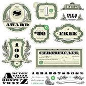 Defina vetor dinheiro frame e ornamento — Vetorial Stock