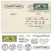 Vector Vintage Postcard — Stock Vector