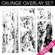 Stock Vector: Vector Grunge Overlay Set