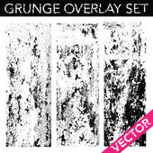 Vector Grunge Overlay Set — Stock Vector