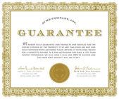 Vector Guarantee Certificate — Stock Vector