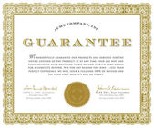 Vector Guarantee Certificate — Stock Vector