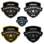 Vector Clipart Shield Badge Set — Stock Vector #33625955