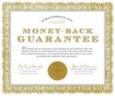 Vector Money Back Guarantee Certificate — Stock Vector
