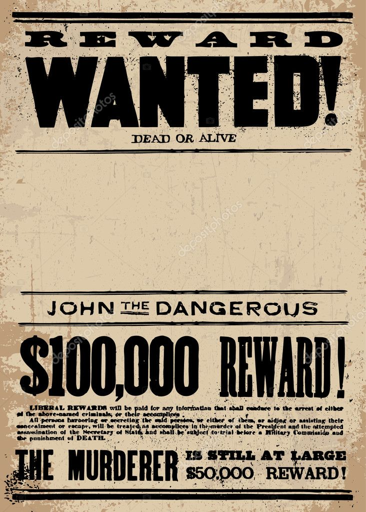 Doc14031984 Missing Reward Poster Template Missing Person – Missing Reward Poster Template