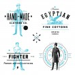Vector Vintage Clothing Label and Badge Set — Stock Vector #35040867