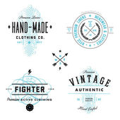 Vector set vintage de etiqueta y placa — Vector de stock