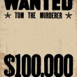 Vector Vintage Wanted Poster Template — Vector de stock