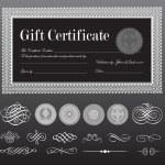 Vector Black Certificate Set — Stock Vector