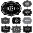 Vector de stock : Vector Retro Badge Template Set