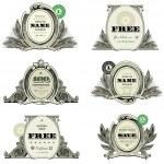 Vector Money Logo and Badge Set — Stock Vector #39883783