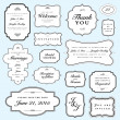 Stock Vector: Vector Wedding Invite Frame Set