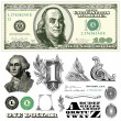 Vector 100 dollar bill template — Vetorial Stock #41523335