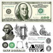 Vector 100 dollar bill template — Vetorial Stock