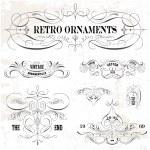 Vector Vintage Ornament Set — Stock Vector #45726599