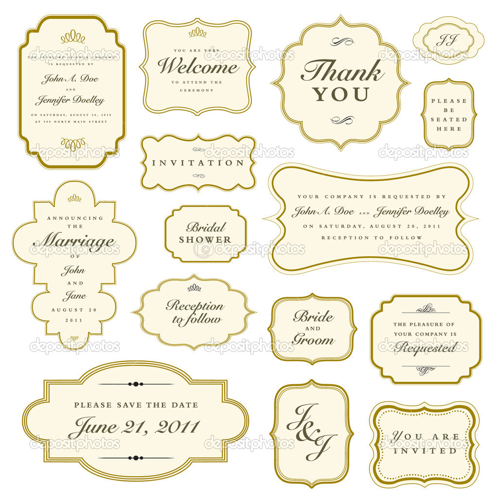 Set of vector ornate gold frames  Easy to edit  Perfect for    Ornate Gold Frame Vector