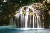Small waterfall in deep forest — Stock Photo