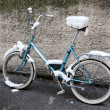 Bike in snow — Stock Photo