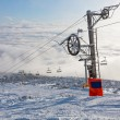 Chair lift on ski resort — Stock Photo