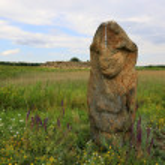 Stone idol in Stone Grave Museum — Stock Photo