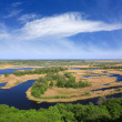 Delta river in nice day — Stock Photo