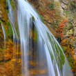 Waterfall in autumn time — Stock Photo
