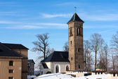Old tower in Koeningshtine castle — Stock Photo