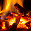 Stock Photo: Flame of fire