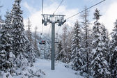 Ski chair lift — Foto Stock