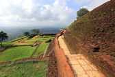 Old wall of Sigiriya castle — Foto de Stock