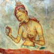 Stockfoto: Fresco of unknown author in Sigiriya