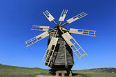 Drewniany wiatrak — Zdjęcie stockowe
