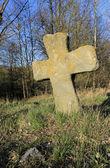Old stone cross — Stock Photo