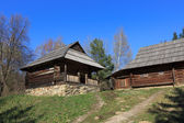 Traditional carpathian wooden house — Stock Photo