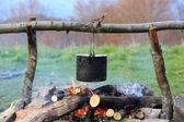 Tourist kettle — Stock Photo