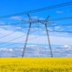 Height voltage power line — Stock Photo #46348049