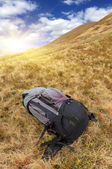 Big backpack mountains  — Foto Stock