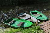 Boats on moorage — Stock Photo