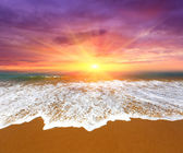 Sunset over ocean — Stock Photo