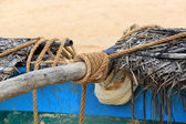 Rope on fishing ship — Stock Photo